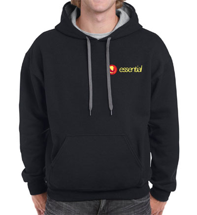 Black Essential Hoodies